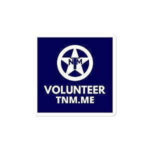 TNM Volunteer Stickers
