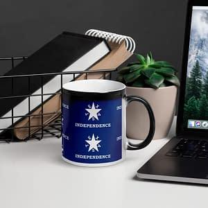 Texas Independence Glossy Magic Mug