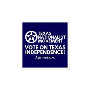 TNM Vote For Independence Sticker