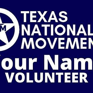 TNM Volunteer Name Badge