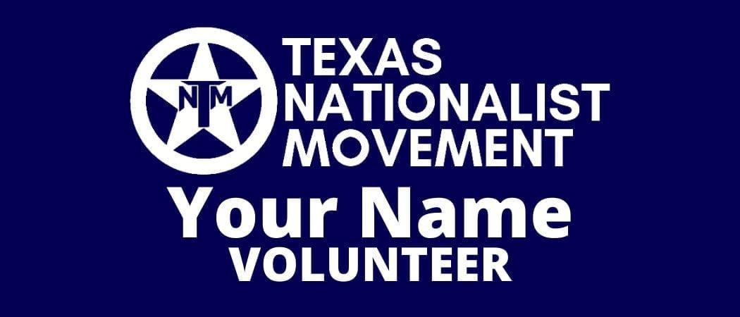 Tnm Volunteer Name Badge The